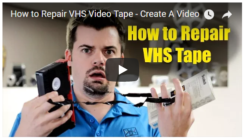 how to fix a video tape on a VHS Cassette